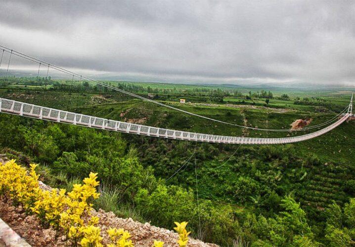 پل معلق مشکین شهر اردبیل بلندترین پل معلق خاورمیانه