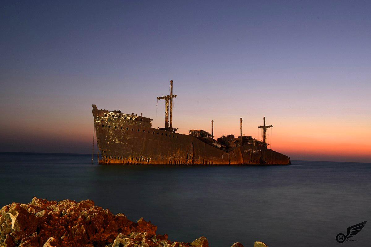 کشتی یونانی در سواحل جنوب ایزان