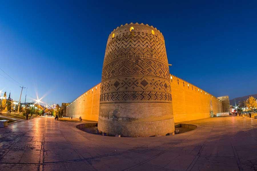 ارگ یا دژ کریم خان در مرک شهر شیراز