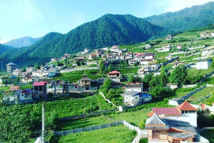 روستای ییلاقی لاویج بهشتی زمینی در شهرستان نور مازندران