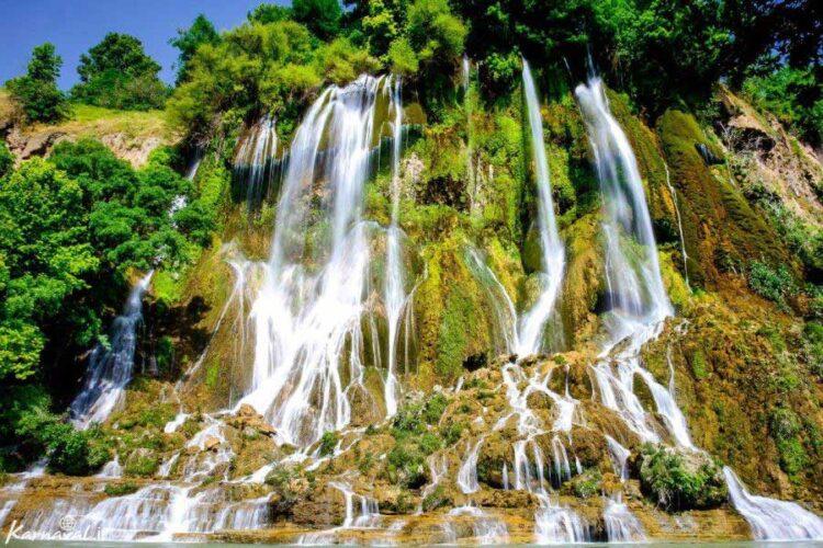 آبشار بیشه جادبه طبیعی استان لرستان