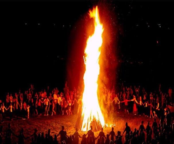 تصویری از جشن سده در یزد