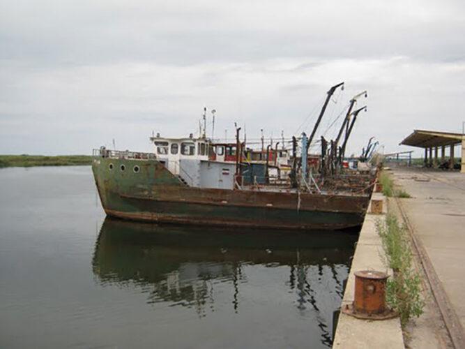اسکله ماهیگیری کیاشهر در آستانه اشرفیه