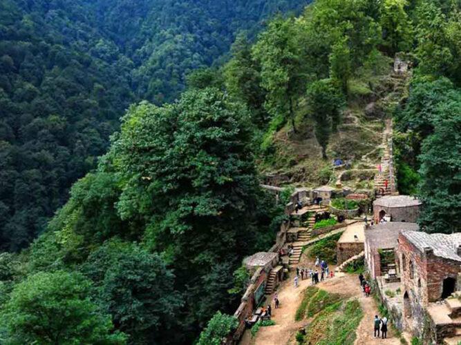 قلعه رودخان، بنایی بجامانده ازدوران ساسانی