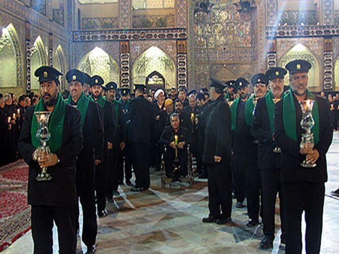 محرم در مشهد، مراسم چراغ گردانی