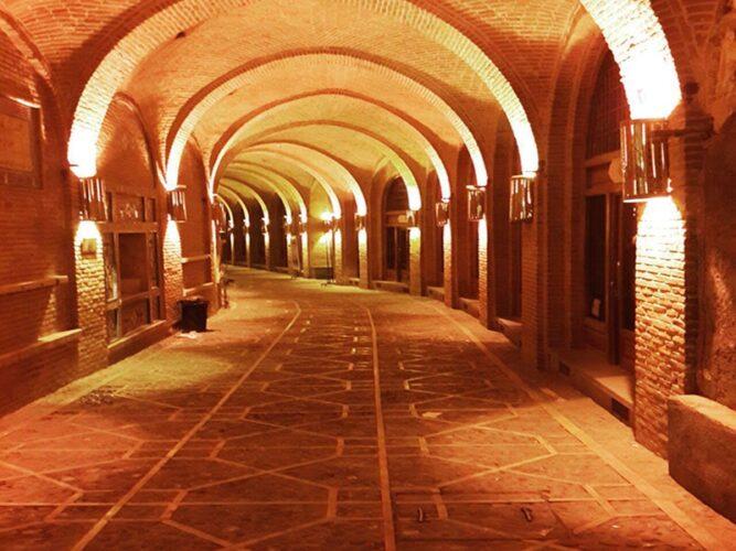 تصویری از بازار تاریخی قزوین