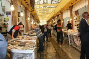 بازار ماهی فروشان شمال رامسر
